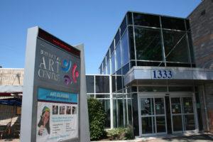 Front entrance to Art Gallery of Burlington