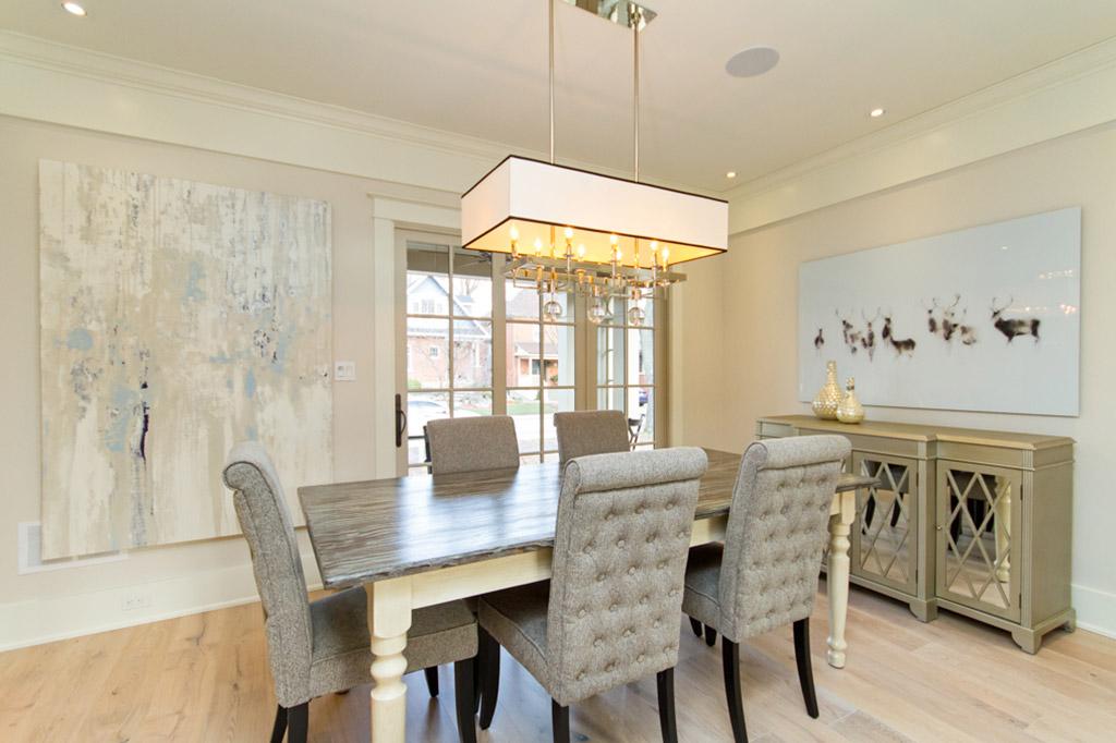 Dining room of Tudor House suite 1 furnished rental in downtown Burlington