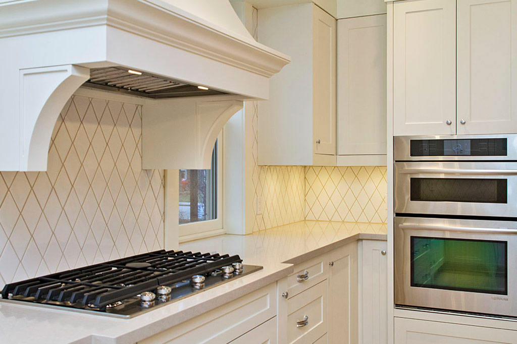 Close up of stove and stove in Tudor House suite 1 furnished rental in downtown Burlington