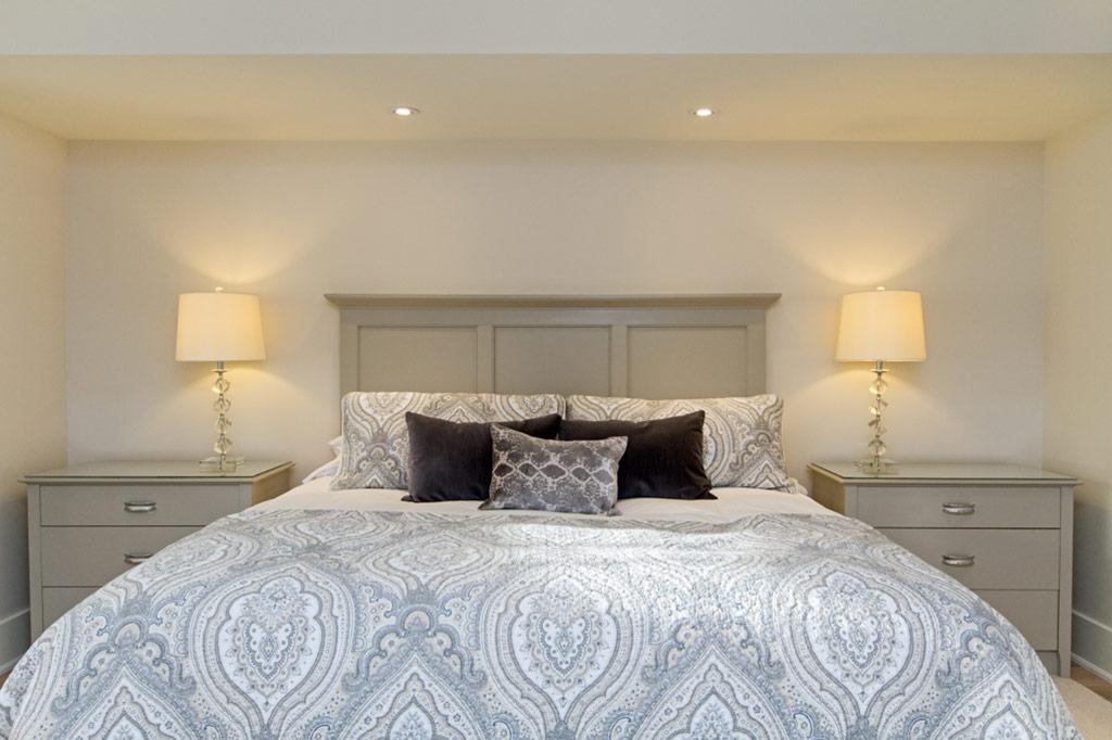 Matser bedroom in Tudor House suite 1 furnished rental in downtown Burlington