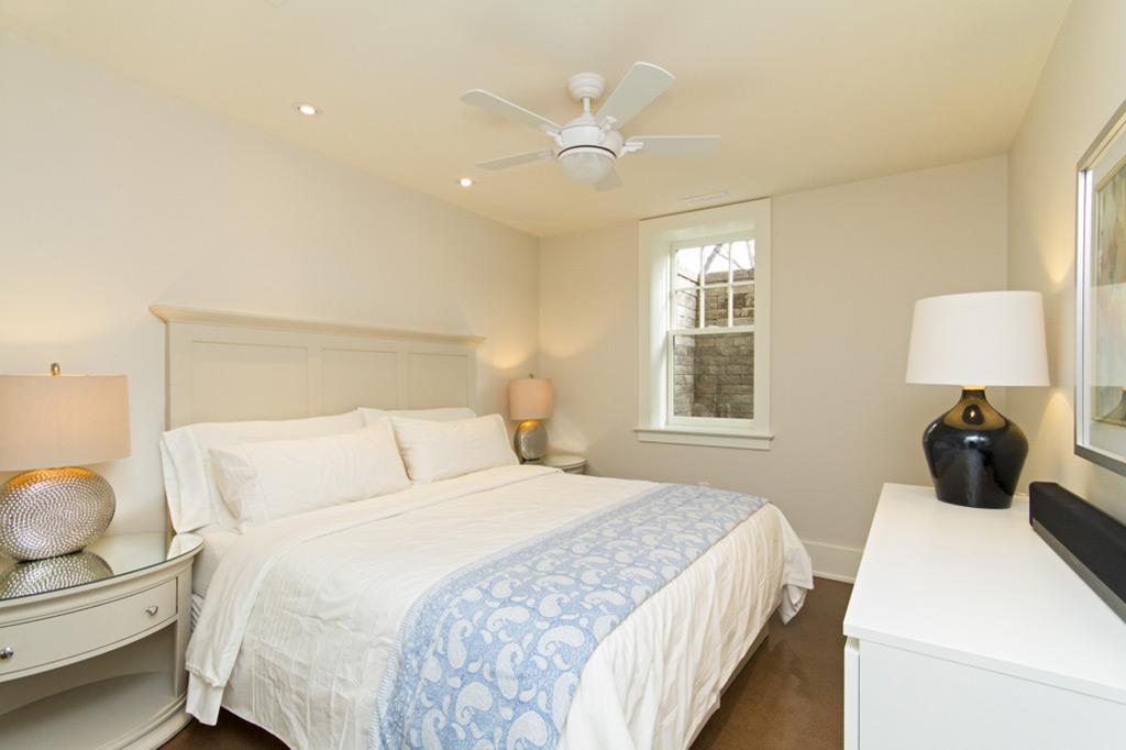 Bedroom in Tudor House suite 2 furnished rental in downtown Burlington